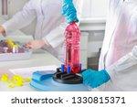 plastic bottle in laboratory | Shutterstock . vector #1330815371