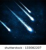 comet in the starry sky. eps 10 | Shutterstock .eps vector #133082207