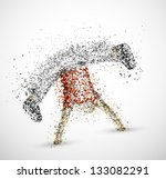 abstract male from circles. eps ... | Shutterstock .eps vector #133082291