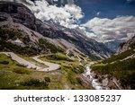 Stelvio Pass - stock photo