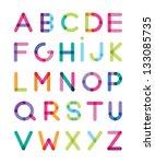 color alphabet | Shutterstock .eps vector #133085735