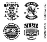 set of four rap and hip hop... | Shutterstock .eps vector #1330862357