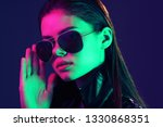 elegant woman in glasses party... | Shutterstock . vector #1330868351
