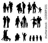 outdoor walking family... | Shutterstock . vector #133089101