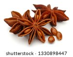 Star Anise And Seeds Isolated...
