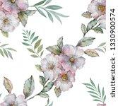 seamless watercolor flowers... | Shutterstock . vector #1330900574