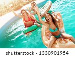 three girls relaxing and having ...   Shutterstock . vector #1330901954