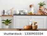 set of kitchenware on wooden... | Shutterstock . vector #1330903334