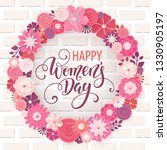happy womens day greeting card. ... | Shutterstock .eps vector #1330905197