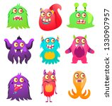 cute monsters. cartoon aliens... | Shutterstock .eps vector #1330907957