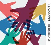 vector background teamwork ...   Shutterstock .eps vector #1330909754