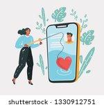 vector cartoon illustration of... | Shutterstock .eps vector #1330912751