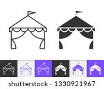 circus tent black linear and... | Shutterstock .eps vector #1330921967