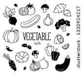 hand drawing vegetables. doodle ... | Shutterstock .eps vector #1330924217