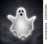 flying ghost outdoors. eps 10 | Shutterstock .eps vector #133092584