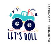 let's roll slogan and adventure ... | Shutterstock .eps vector #1330956914