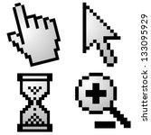 pixelated computer cursors | Shutterstock . vector #133095929