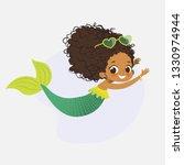mermaid african character... | Shutterstock .eps vector #1330974944