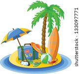 travel vacation vector... | Shutterstock .eps vector #133097771