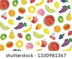 fresh fruits pattern   Shutterstock . vector #1330981367