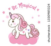 cute unicorn vector kawaii pony ... | Shutterstock .eps vector #1330985324
