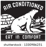 air conditioned   retro ad art... | Shutterstock .eps vector #1330986251