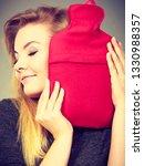positive happy woman hugging... | Shutterstock . vector #1330988357