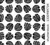 monstera leaves pattern.... | Shutterstock .eps vector #1330989734