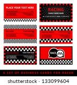 business card driver race  ... | Shutterstock .eps vector #133099604