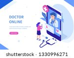 doctor online concept with... | Shutterstock . vector #1330996271
