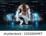 muscular young sports man...   Shutterstock . vector #1331004497
