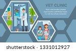 veterinary clinic flat web... | Shutterstock .eps vector #1331012927