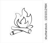 campfire icon  camp fire vector ... | Shutterstock .eps vector #1331012984