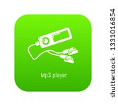 mp3 player icon green isolated... | Shutterstock . vector #1331016854