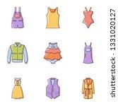 rag icons set. flat set of 9... | Shutterstock . vector #1331020127