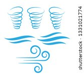 wind icons nature  cool weather ... | Shutterstock .eps vector #1331021774