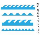 wave icons set. waves outline... | Shutterstock .eps vector #1331021837