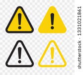 warning attention sign. danger... | Shutterstock .eps vector #1331021861