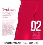 design template   fabric   can... | Shutterstock .eps vector #133105241