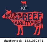 butcher shop label. badge with... | Shutterstock .eps vector #1331052641