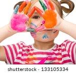 portrait of a cute cheerful... | Shutterstock . vector #133105334