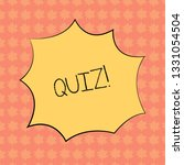 writing note showing quiz.... | Shutterstock . vector #1331054504