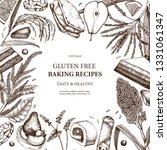 gluten free baking frame. hand...   Shutterstock .eps vector #1331061347