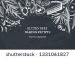 gluten free baking design.... | Shutterstock .eps vector #1331061827