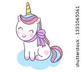 cute unicorn vector kawaii pony ... | Shutterstock .eps vector #1331065061
