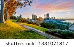 cityscape of perth western... | Shutterstock . vector #1331071817