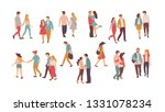 family vector  people walking... | Shutterstock .eps vector #1331078234