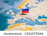 the flag of liechtenstein in... | Shutterstock . vector #1331079344