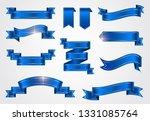 blue ribbon banners set  | Shutterstock .eps vector #1331085764