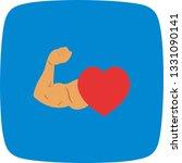illustration healthy heart icon  | Shutterstock . vector #1331090141
